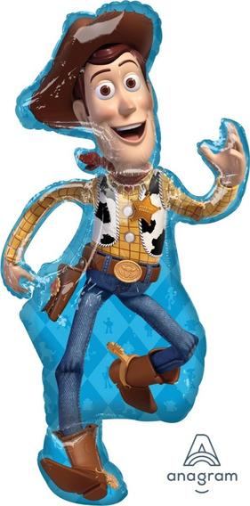 1 Globo Woody Toy Story 4 / Buzz Forky Fiesta Helio Vaquero