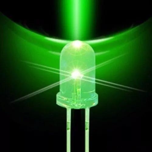 Kit 10 Leds - Alto Brilho 5mm - Verde 12.000mcd