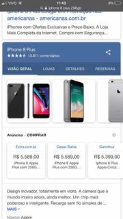 iPhone 8plus 256gb Cinza Espacial Quase Novo