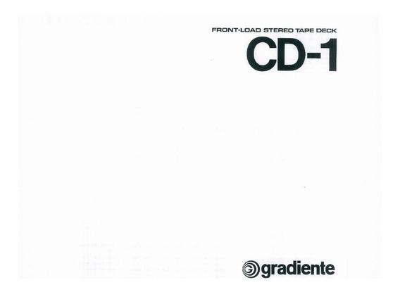 Manual Usuario Tape Deck Gradiente Cd 1 Em Pdf