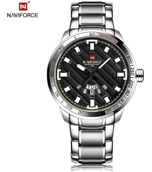 Relógio Masculino Naviforce Original Pronta Entrega Cromado