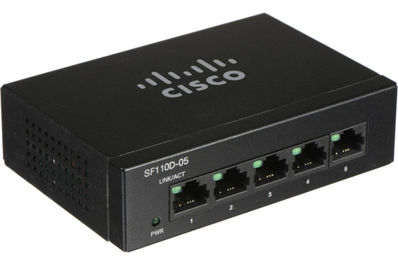 Switch Cisco Sf110d-05 5 Puertos 10/100 Sf110 (ex Sf100d-05)