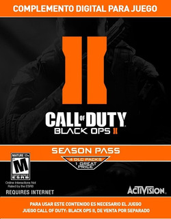 Seasson Pass Call Of Duty Black Ops 2 Digital Ps3