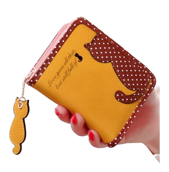 Cartera Gato Envio Gratis Billetera Gatito Monedero Kawaii
