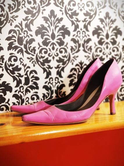 Zapatos Stilettos Rosados Bajos