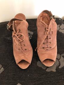 Sapato Schutz Nude Queimado Nobuck - 38