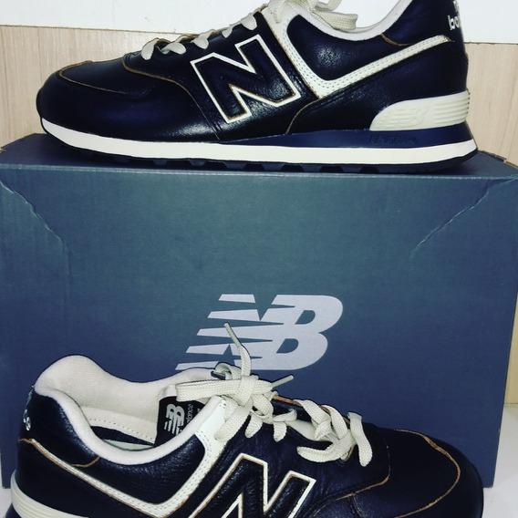 Tênis Couro New Balance 574 Preto