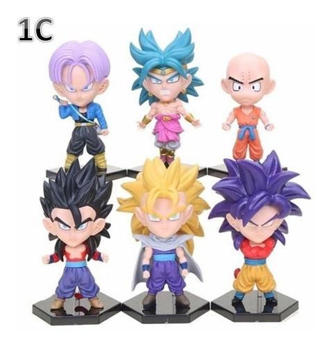 Figura Muñeco Dragon Ball Sets  Variados Cabezones Goku  Mas