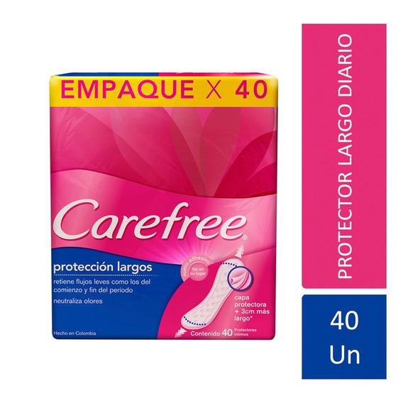 Protectores Diarios Carefree Protección Largo C/ Perfume 40u