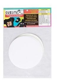 Parche Sublitex Circular 10 Cm P/ Sublimar Algodón Pack 10 U