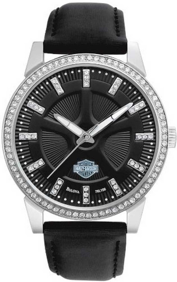 Relogio Bulova Harley Davidson Spoke Swarovski® Collection