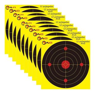 Pack 10 Alvo Target Tiro Parede Papel 12*12 Avb 12