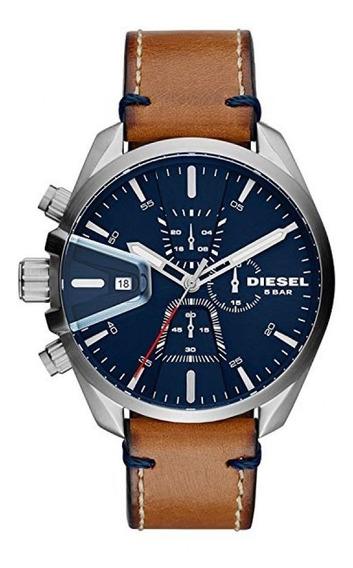 Relógio Diesel Masculino Stand Out Dz4470/1mi Couro Marrom