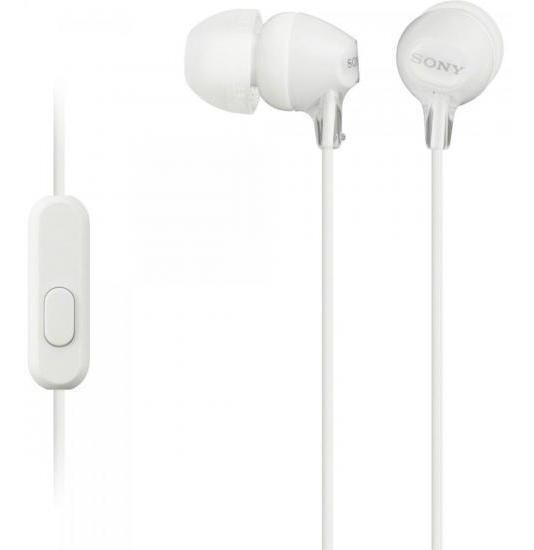 Fone De Ouvido Intra-auricular Com Microfone Mdr-ex15ap Branco Sony