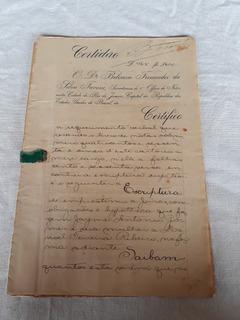 Documento Empréstimo A Juro 1923 Selo Fiscal