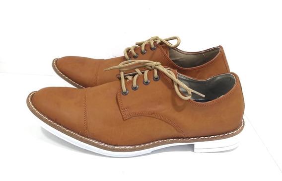 Calzado Zapato De Vestir Hombre Eco Cuero Con Cordon Moda