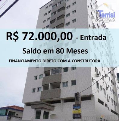 Apartamento Em Praia Grande, 02 Dormitórios Sendo 01 Suite. Prédio Com Elevador Na Guilhermina Ap1709 - Ap1709