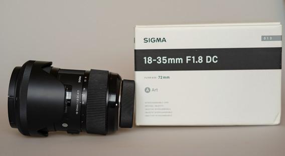 Lente Sigma Art 18-35mm F/1.8 Dc Hsm Para Nikon