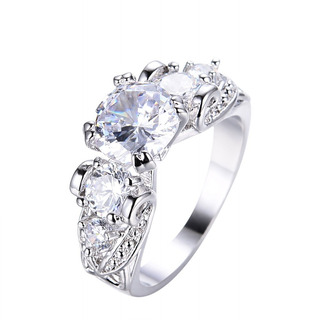 Adeser Jewelry Womens Lab Colorful Cz Ring Y Five Stone W