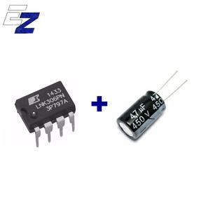 1x Circuito Integrado Lnk306pn + 2x Capacitor 4,7uf X 450v