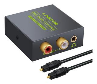 Convertidor Audio Digital A Analógico Toslink Coaxial Rca L