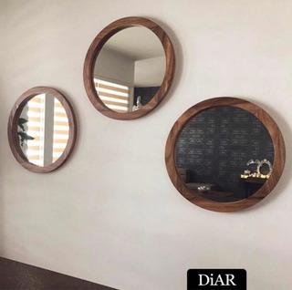 Espejo Circular De Parota