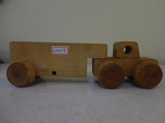 #20059 - Madeira - Brinquedo Caminhão Educativo!!!