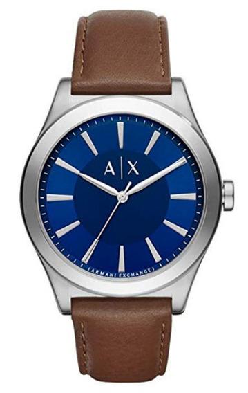 Armani Exchange Ax2324 Azul Couro Genuíno 12x S/ Juros