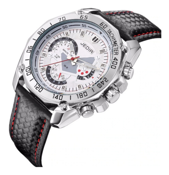 Relógio Masculino Elegante Jedir 5308 Original Couro Quartzo Social ---- Promoção Imperdível ----