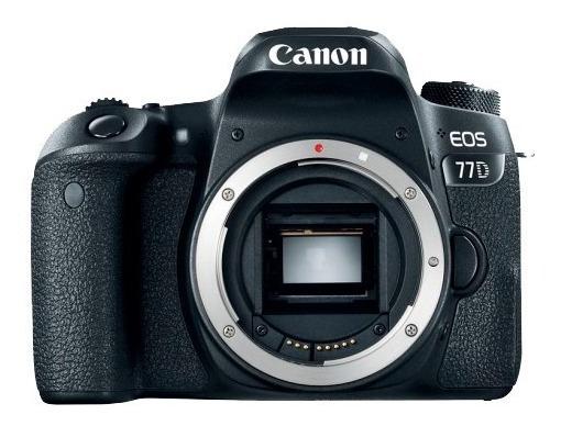 Câmera Canon Eos 77d Somente Corpo + Nf E Garantia 1 Ano