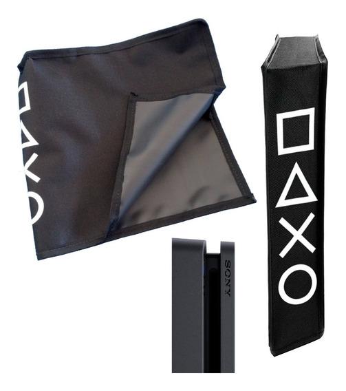 Capa Antipoeira Vertical Ps4 Slim Protetora Console Skin