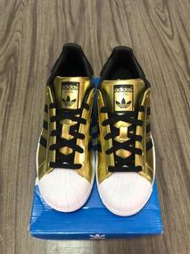 Zapatos adidas Originales Superstar Dorados Blanco Negro