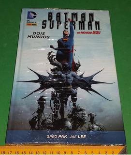 Batman E Superman Dois Mundos Capa Dura Graphic Novel Hq