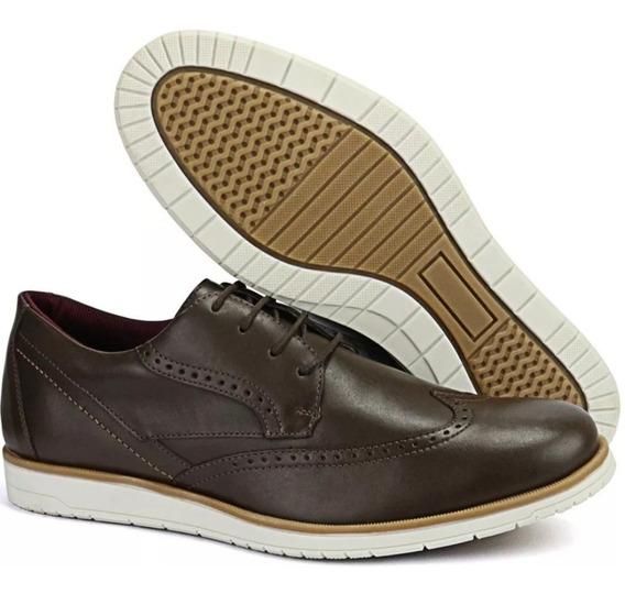 Sapato Oxford Casual Clássico Masculino Em Couro Legitimo