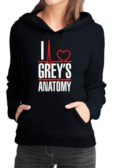 Moletom Greys Anatomy Feminino Casaco Seriado Blusa +brinde