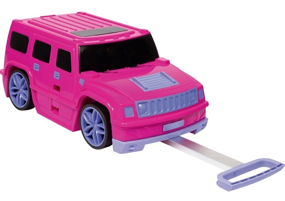 Mala Infantil Escolar Pink Abs Rodinhas Play Racing Sestini