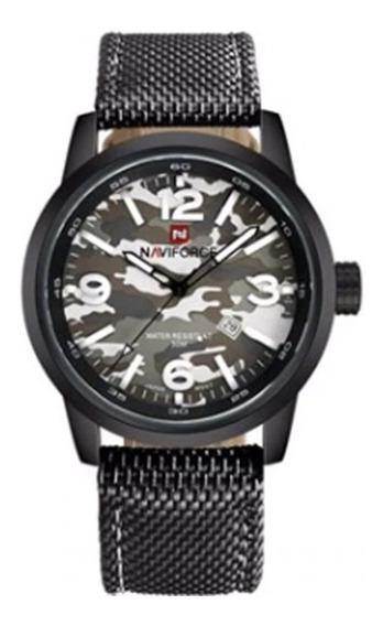 Relógio Masculino Naviforce 9080 Original Pulseira De Couro