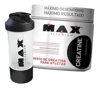 Creatina 150g - Max Titanium + Shaker Com Compartimento