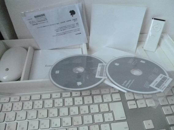 iMac 2008 Apple Caixa Com Teclado Mouse Cd Tudo Original