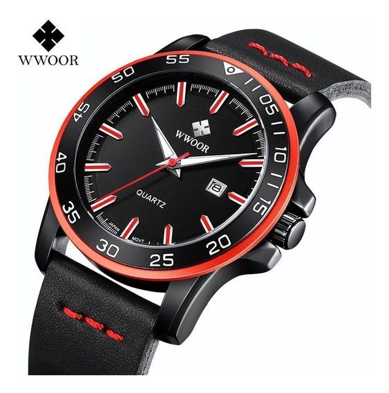 Wwoor Original Relógio Analógico Masculino Fashion
