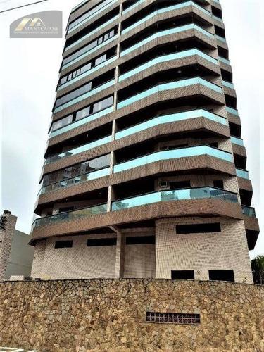 Ótimo Apartamento 156 M² Mobiliado,  2 Dormitórios, Suíte, Próximo Ao Mar Na Guilhermina, Praia Grande. Porteira Fechada  (vai Retirar Somente As Tvs) - Ap2249