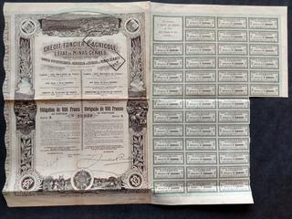 Apólice Bco Hipothecário E Agrícola De Minas Gerais 1911