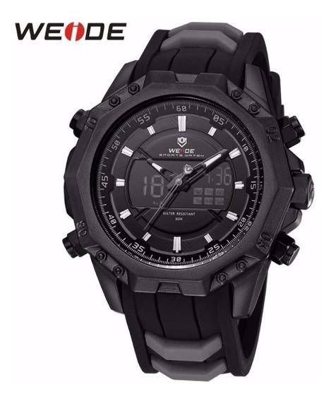 Relógio Masculino Original Weide Borracha Rustico Preto