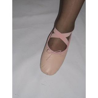 Zapatillas De Ballet En Cuero Natural De La Mejor Calidad