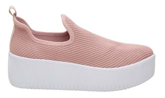Tênis Santa Lolla Slip On Knit Sola Alta