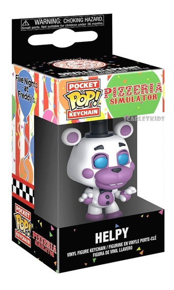 Funko Pop Llavero Five Nigths At Freddys Helpy Original Funko Scarlet Kids