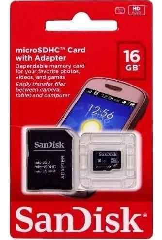 Cartão De Memória Micro Sd De 16gb Sandisk Samsung Motorola