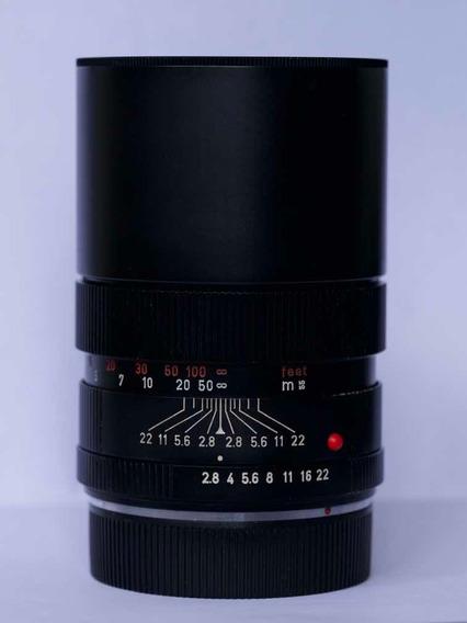 Leica R Elmarit 135mm F/2.8 Com Adaptador Para Sony Nex A7