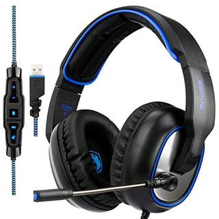 Auricular Para Juegos De Ordenador Sades R7 Estéreo Usb Auri