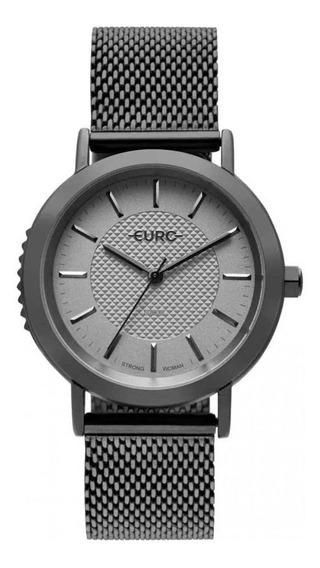 Relógio Feminino Euro Em Aço Inoxidável Grafite Eu2036ymz/4f